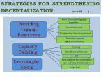 strategies for strengthening decentalization contd1
