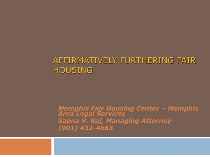 affirmatively furthering fair housing n.