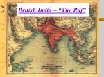 british india the raj