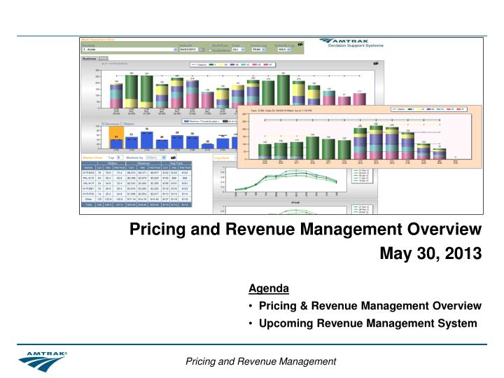pricing and revenue management overview may 30 2013 n.