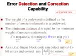 error detection and correction capability