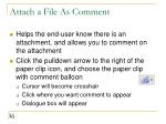 attach a file as comment