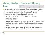 markup toolbar arrow and drawing tools