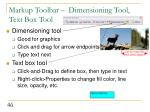 markup toolbar dimensioning tool text box tool