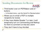 sending documents for review
