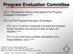 program evaluation committee