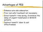 advantages of peg