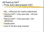 all positive dat free auto abs present ha