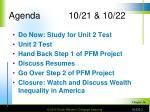 agenda 10 21 10 22