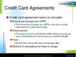 credit card agreements1