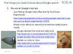 five things you need to know about google search4
