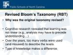 revised bloom s taxonomy rbt