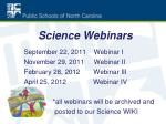 science webinars