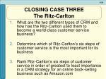closing case three the ritz carlton