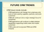 future crm trends