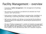 facility management overview