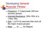 developing general muscular fitness
