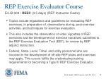 rep exercise evaluator course