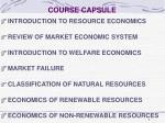 course capsule