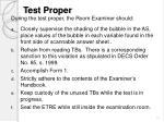 test proper
