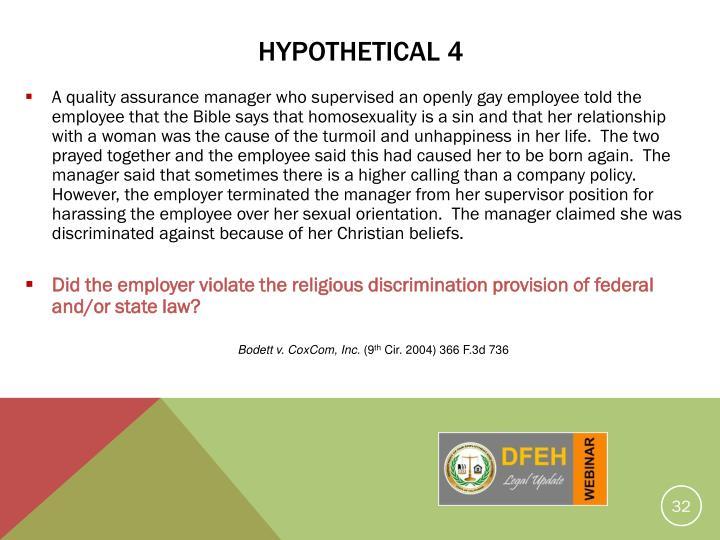 HYPOTHETICAL 4