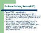 problem solving team pst4