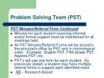 problem solving team pst7
