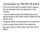 conclusion on tb hiv m and e