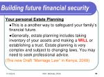 building future financial security