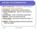 micro enterprising