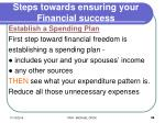 steps towards ensuring your financial success
