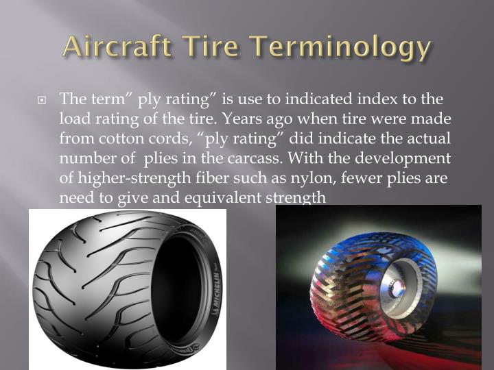 Aircraft Tire Terminology