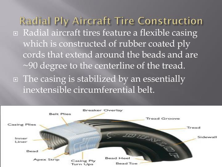 Radial Ply Aircraft Tire Construction