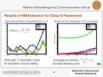 results of em estimator for class a parameters