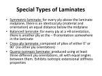 special types of laminates