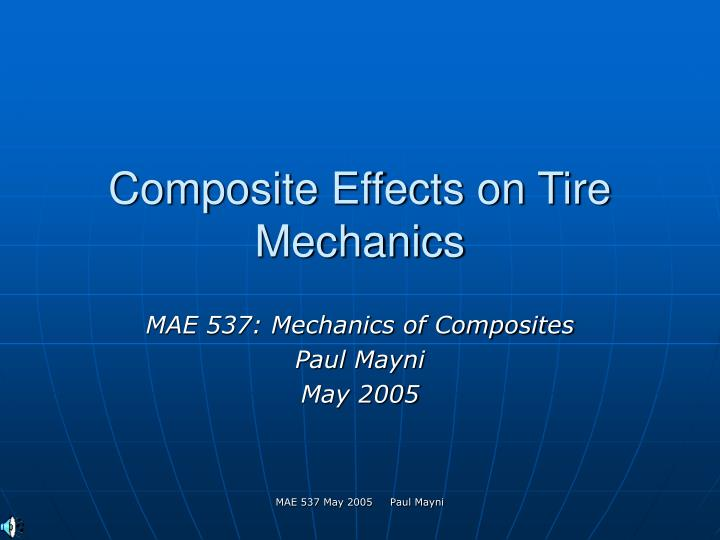 composite effects on tire mechanics n.