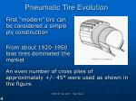 pneumatic tire evolution