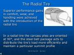 the radial tire