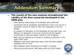 addendum summary