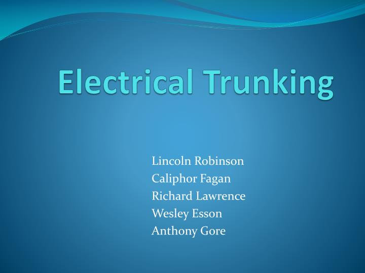 electrical trunking n.