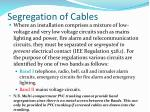 segregation of cables