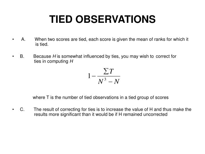 TIED OBSERVATIONS