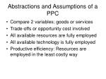 abstractions and assumptions of a ppc