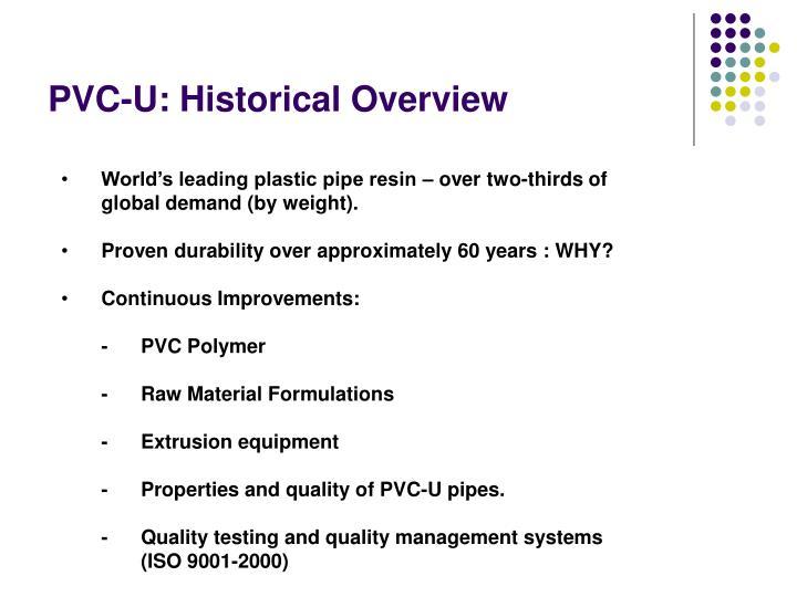 PVC-U: Historical Overview
