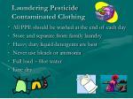 laundering pesticide contaminated clothing