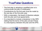 true false questions