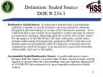 definition sealed source doe n 234 1