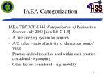 iaea categorization