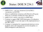 status doe n 234 1