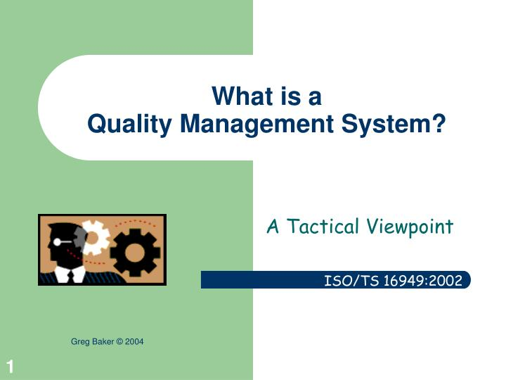 what is a quality management system n.